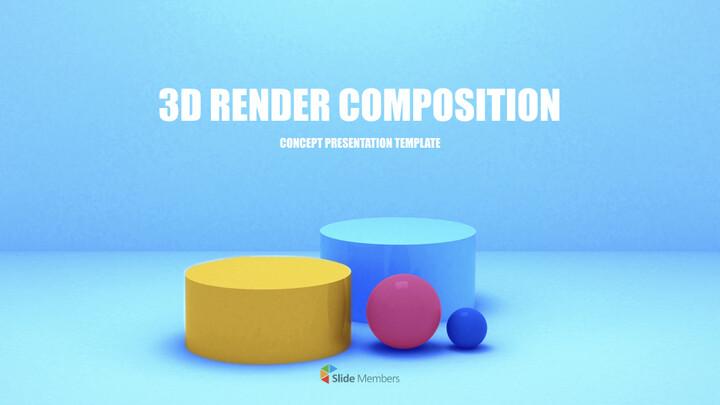 3D 렌더링 구성 PPT 키노트_01