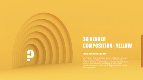 3D Render Composition PPT Keynote_30