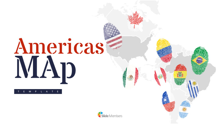 America Map Simple Slides Design_01