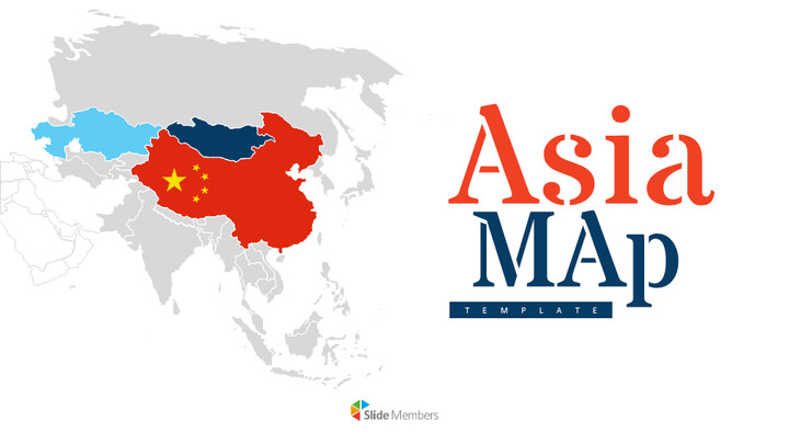 Asia Map Simple Presentation Google Slides Template_01