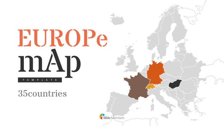 Europe Map (35countries) Simple Presentation Google Slides Template_01