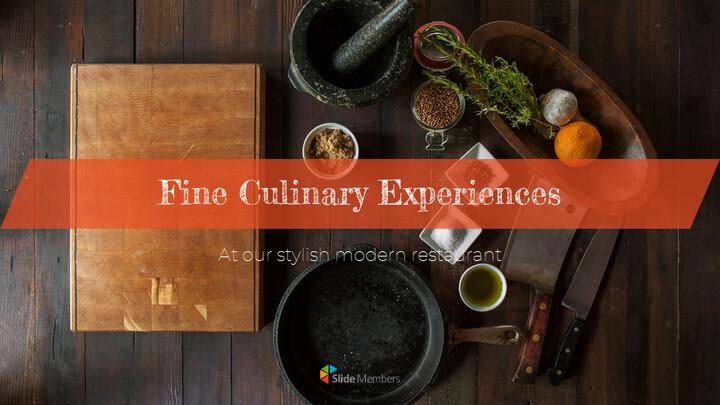 훌륭한 요리 (퀴진) Google 파워포인트 프레젠테이션_01