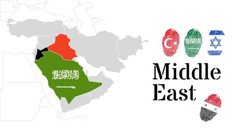 Oceania & Middle East Map Google PowerPoint Presentation_03