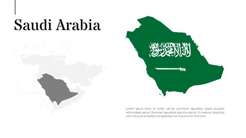 Oceania & Middle East Map Google PowerPoint Presentation_04
