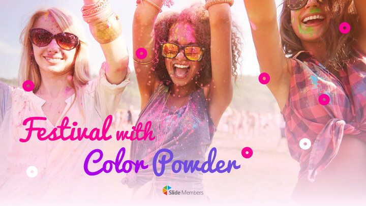 Festival With Colour Powder Google PowerPoint Presentation_01