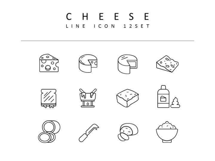 치즈 벡터 아이콘 세트_01