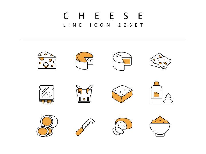 치즈 벡터 아이콘 세트_02