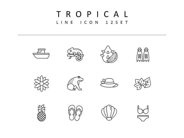 Tropical Icons Set_01
