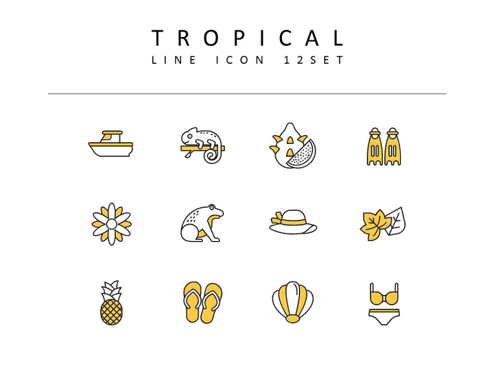 Tropical Icons Set_02
