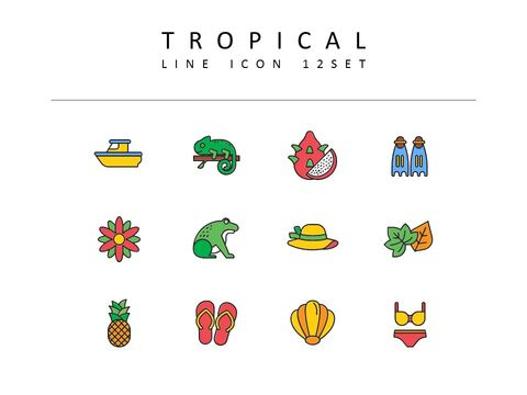 Tropical Icons Set_03