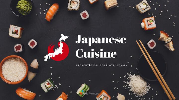 일본 요리 프레젠테이션을 위한 구글슬라이드 템플릿_01