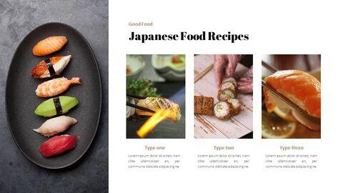 일본 요리 프레젠테이션을 위한 구글슬라이드 템플릿_04