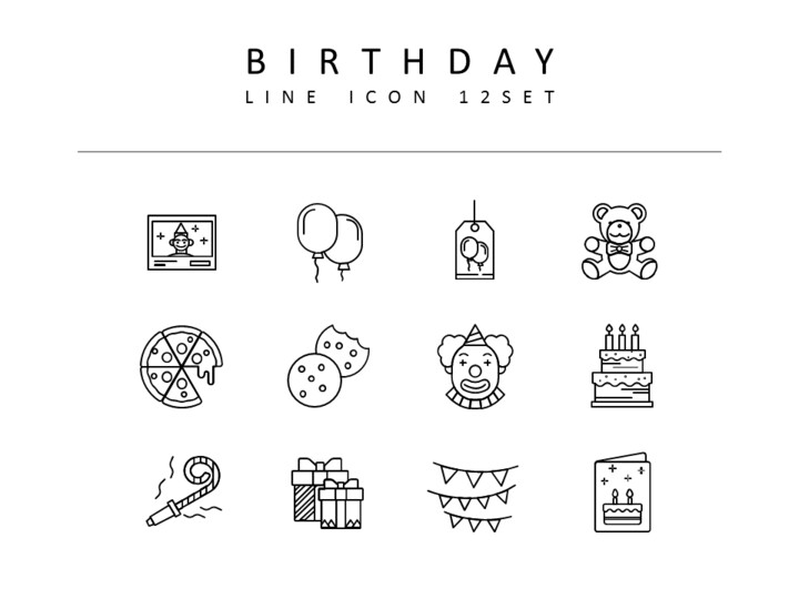 Birthday Icon Resources for Designers_01