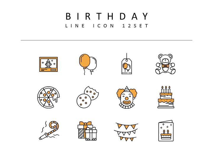 Birthday Icon Resources for Designers_02