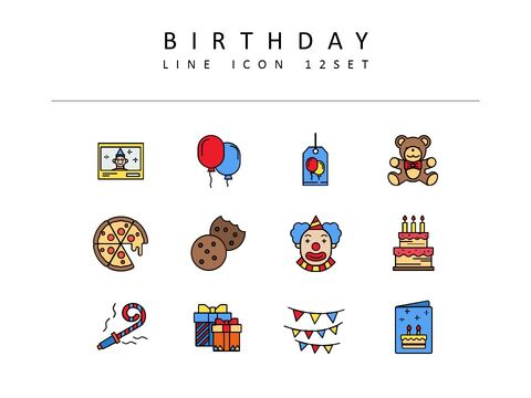 Birthday Icon Resources for Designers_03