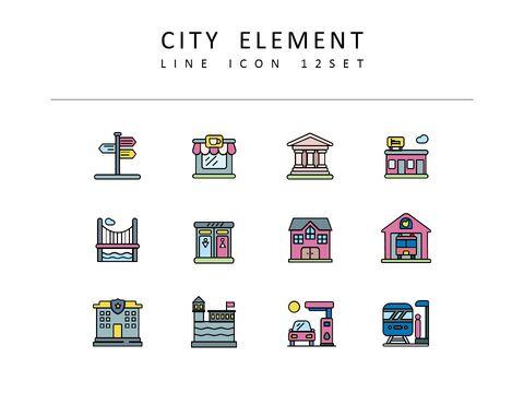 <span class=\'highlight\'>City</span> Element Vector Icons Set_03