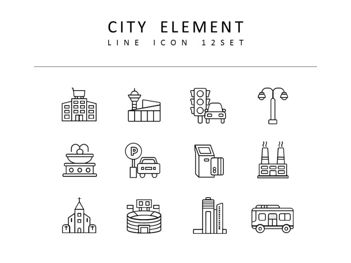 <span class=\'highlight\'>City</span> Element Vector Images_01
