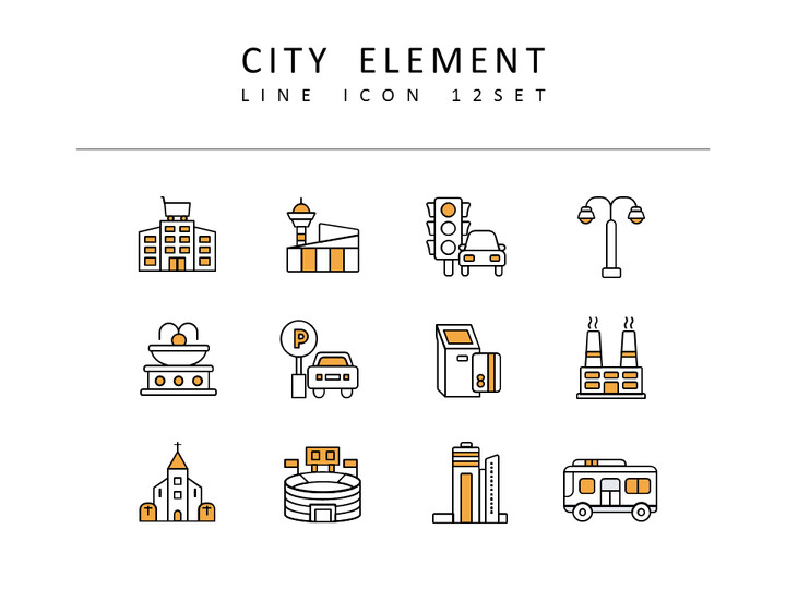 <span class=\'highlight\'>City</span> Element Vector Images_02