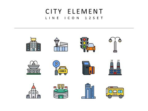 <span class=\'highlight\'>City</span> Element Vector Images_03
