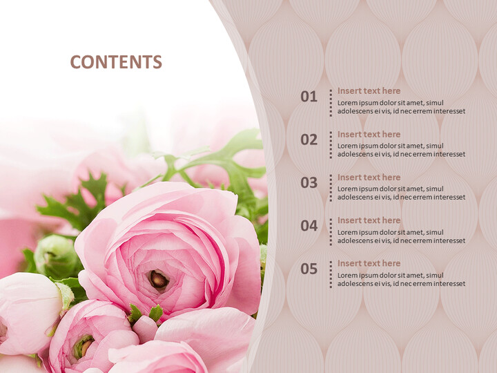 Bouquet of Flowers As a Present - Free PPT Sample_02