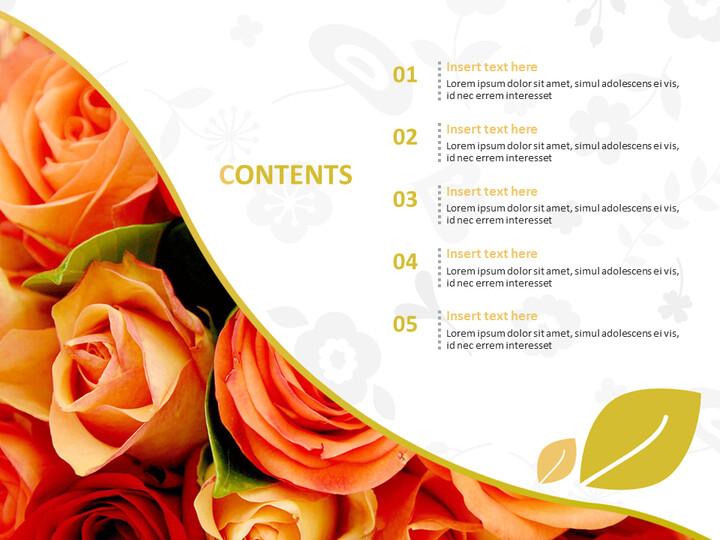 Bouquet of Scarlet Flower - Free Powerpoint Sample_02