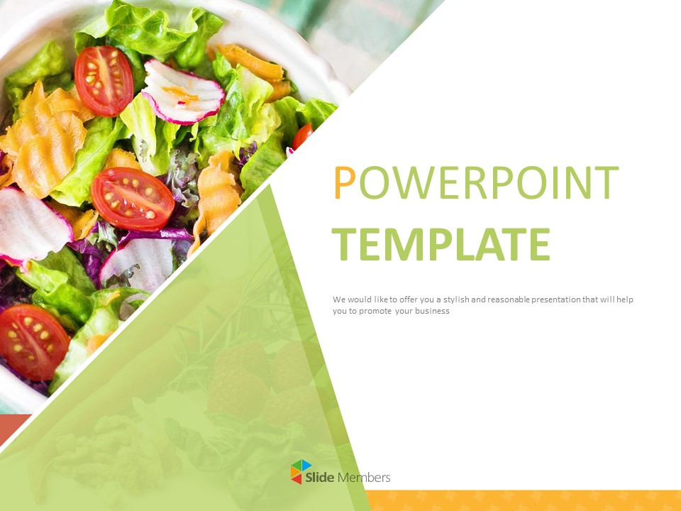 Diet Salad Free Ppt Template