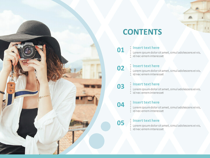 Overseas Trip in Spring Time - Free PPT Sample_02