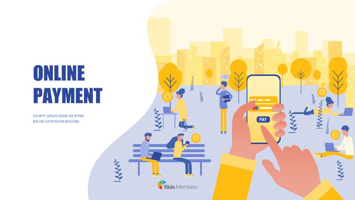 Online Payment Service Simple Slides Templates_01