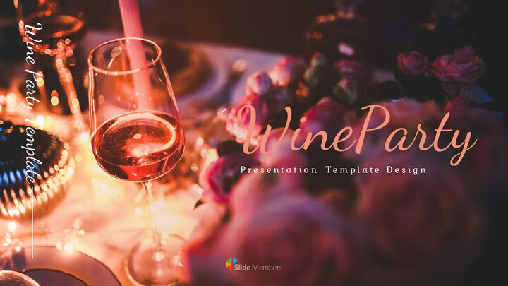 Wine Party Simple Google Presentation_01