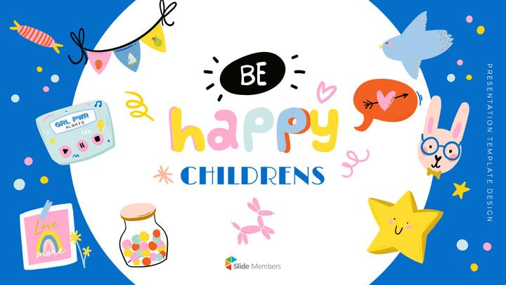 Be Happy Childrens Google Slides mac_01