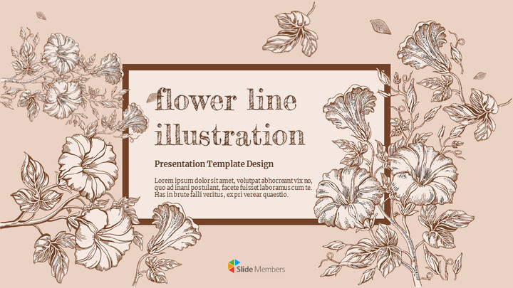 Flower Illustration Custom Google Slides_01