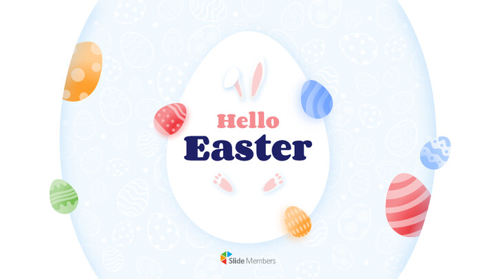Hello Easter Simple Presentation Google Slides Template_01