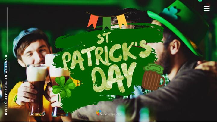 St. Patrick\'s Day Easy Google Slides Template_01