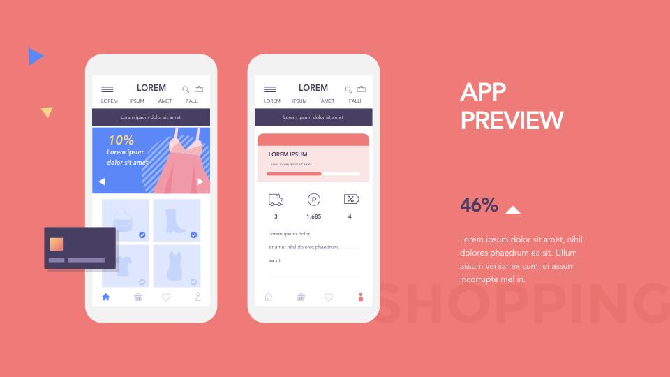 Mobile Open Market Application Ppt Keynote Presentation Template