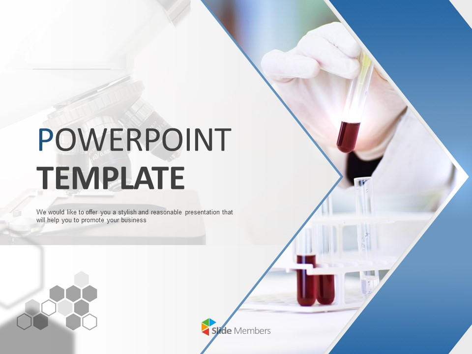 A Reagent And A Microscope Free Powerpoint Template