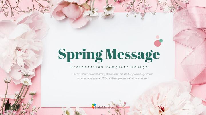 봄 메시지 프레젠테이션용 Google 슬라이드_01