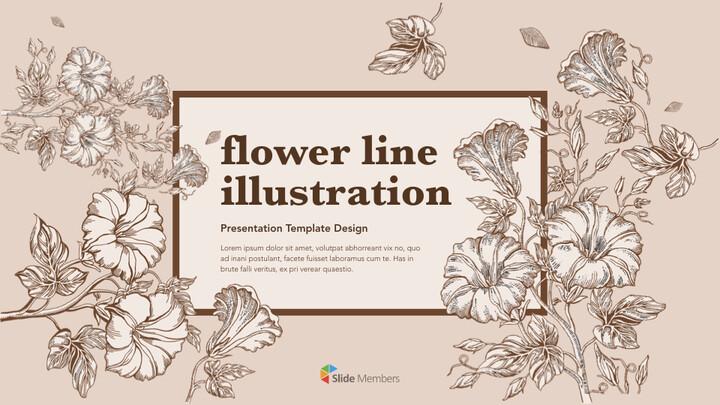 Flower Illustration PPT Keynote_01