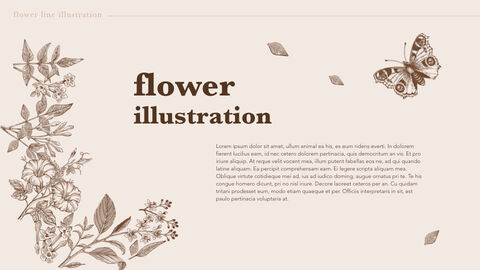 Flower Illustration PPT Keynote_03