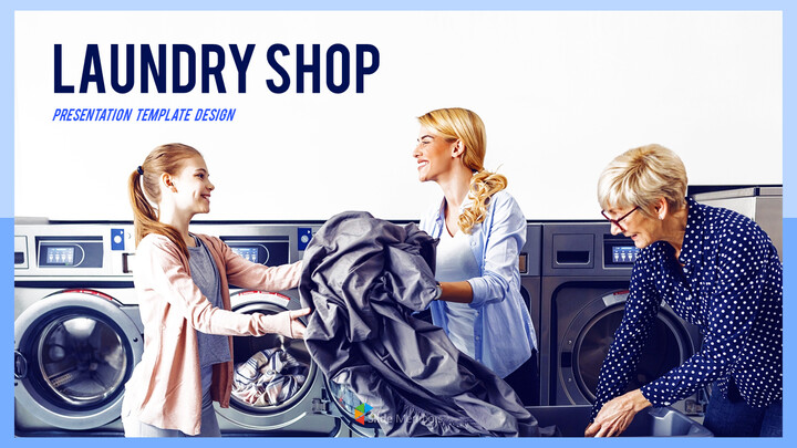 Laundry Shop PPT Background_01