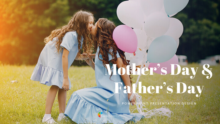 Mothers Day & Fathers Day Simple Presentation Google Slides Template_01