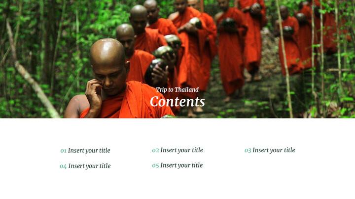 태국 여행 프레젠테이션을 위한 구글슬라이드 템플릿_02