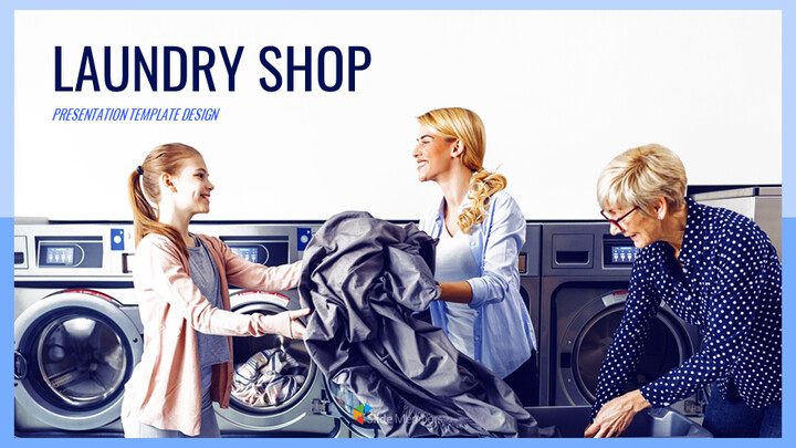Laundry Shop Simple Google Slides Templates_01