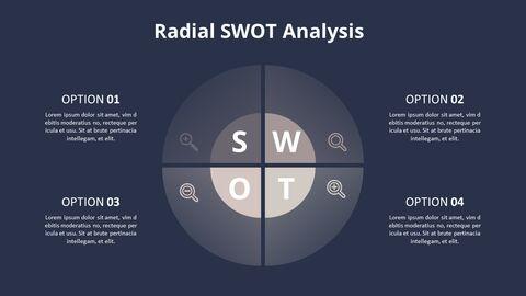 Circle SWOT 분석 다이어그램_09