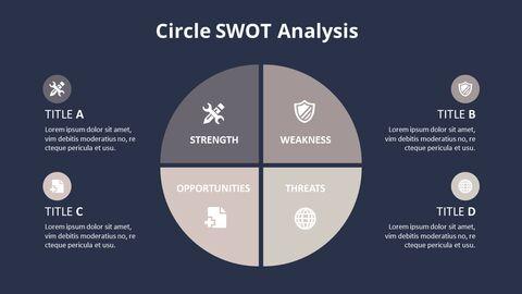 Circle SWOT 분석 다이어그램_10