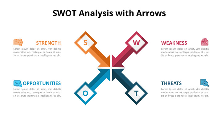 SWOT Analysis with Icons Diagram_01