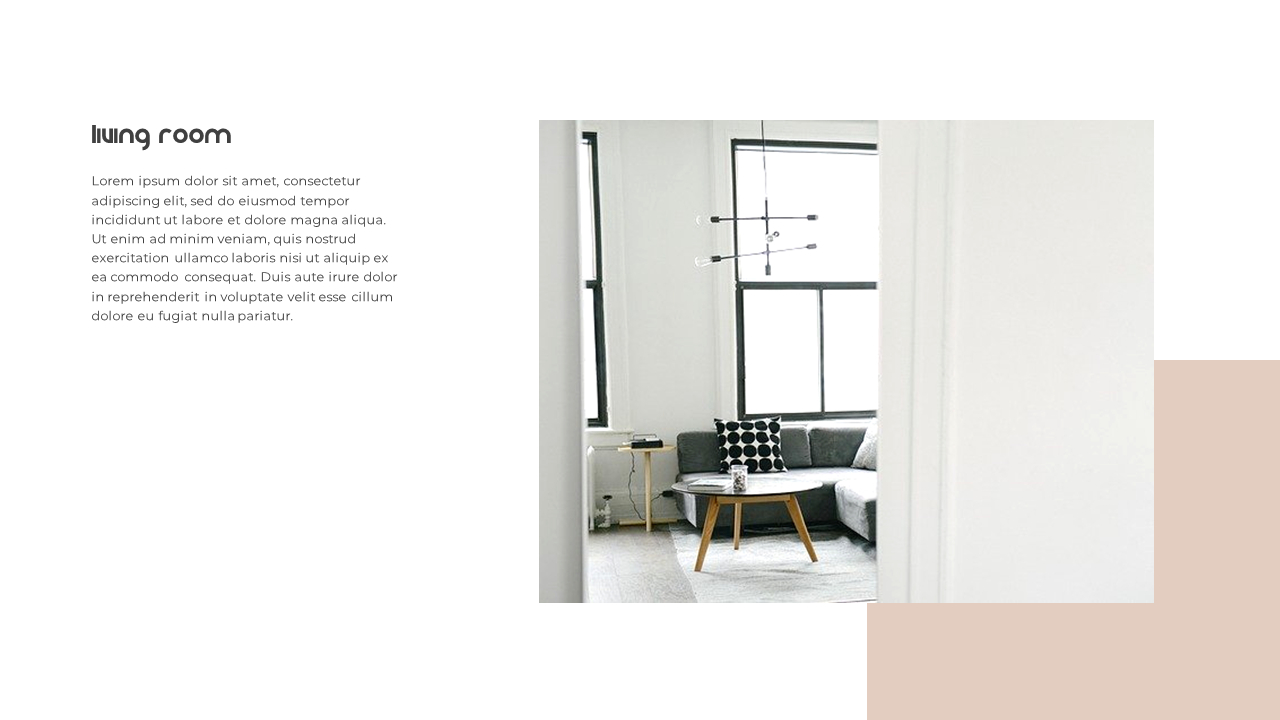 Home Interior Simple Powerpoint Template Design