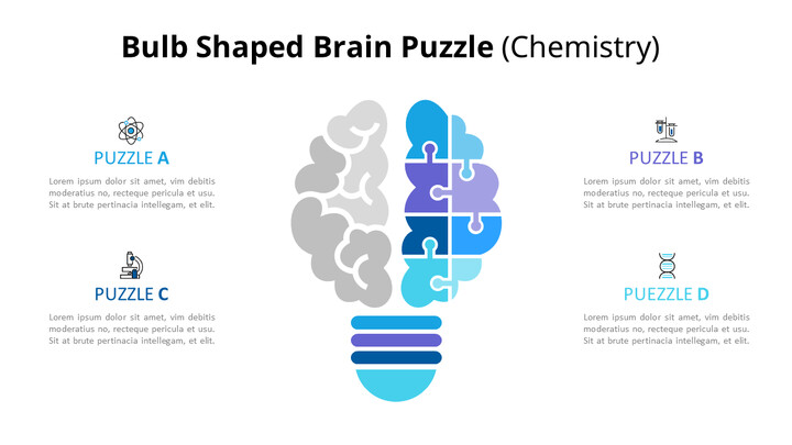 Idea and Knowledge Puzzle Infographic Diagram_02