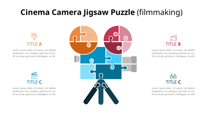 Jigsaw Puzzle Industrial Infographic Diagram_02