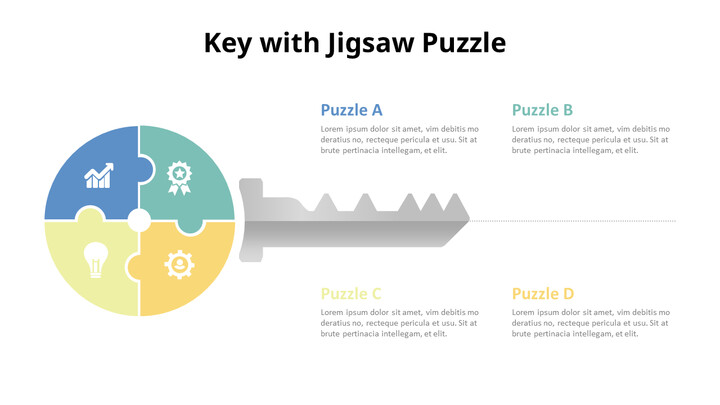 Key and Pencil Puzzle Infographic Diagram_01