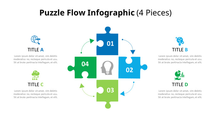 퍼즐 조각 Infographic 다이어그램_02